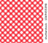 red checkered seamless pattern. ... | Shutterstock .eps vector #1069455398