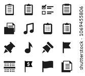 flat vector icon set  ... | Shutterstock .eps vector #1069455806