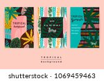 set of abstract creative... | Shutterstock .eps vector #1069459463