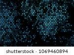dark blue vector abstract...   Shutterstock .eps vector #1069460894