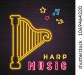 harp symbol music instrument... | Shutterstock .eps vector #1069464320