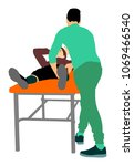 physiotherapist and patient... | Shutterstock .eps vector #1069466540