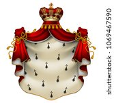 heraldic background with a red... | Shutterstock .eps vector #1069467590