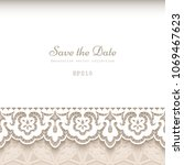vintage background with... | Shutterstock .eps vector #1069467623