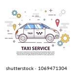 taxi service. concept of design ...   Shutterstock .eps vector #1069471304