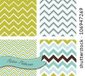 a set of seamless retro zig zag ... | Shutterstock .eps vector #106947269
