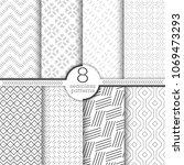 set of vector seamless patterns.... | Shutterstock .eps vector #1069473293