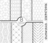 set of vector seamless patterns.... | Shutterstock .eps vector #1069473446