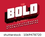 vector of stylized bold font... | Shutterstock .eps vector #1069478720