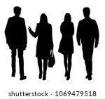 vector silhouettes of  people   ... | Shutterstock .eps vector #1069479518