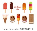 set of tasty ice cream isolated ... | Shutterstock .eps vector #106948019
