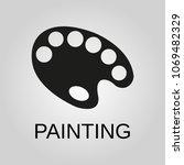 painting icon. palette symbol....