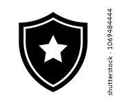 shield icon in trendy flat style | Shutterstock .eps vector #1069484444