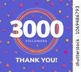 3000 followers  social sites... | Shutterstock .eps vector #1069486793