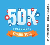 50k followers  social sites... | Shutterstock .eps vector #1069486868