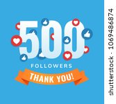 500 followers  social sites... | Shutterstock .eps vector #1069486874