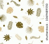 seamless tropical pattern with... | Shutterstock . vector #1069489550