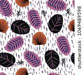 fashionable seamless pattern...   Shutterstock . vector #1069489598