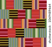 multicolored trendy seamless...   Shutterstock . vector #1069489664