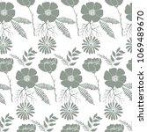 elegant trendy seamless pattern ...   Shutterstock . vector #1069489670