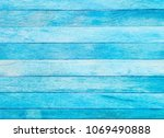 old pastel blue colour wood... | Shutterstock . vector #1069490888