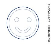 smile icon. vector. flat style... | Shutterstock .eps vector #1069492043