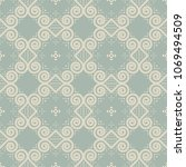 antique seamless background...   Shutterstock .eps vector #1069494509