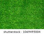 green background of artificial... | Shutterstock . vector #1069495004
