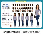young woman  casual clothes.... | Shutterstock .eps vector #1069495580
