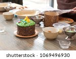 culinary class for children and ... | Shutterstock . vector #1069496930