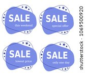 sale promo discount set banners ... | Shutterstock .eps vector #1069500920