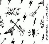 rock and roll seamless pattern... | Shutterstock .eps vector #1069505243