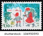 finland   circa 1984  a stamp... | Shutterstock . vector #106950593