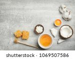 fresh ingredients for homemade... | Shutterstock . vector #1069507586