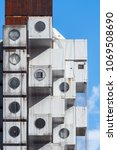 nakagin capsule tower | Shutterstock . vector #1069508690