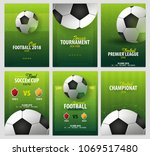 set of football or soccer... | Shutterstock .eps vector #1069517480