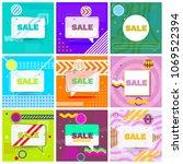 set of trendy abstract... | Shutterstock .eps vector #1069522394