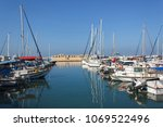 the old port of yafa in israel. | Shutterstock . vector #1069522496