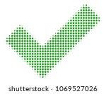 yes halftone vector pictogram.... | Shutterstock .eps vector #1069527026