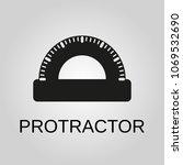 protractor icon. protractor... | Shutterstock .eps vector #1069532690