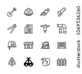 icons architecture with lift ... | Shutterstock .eps vector #1069536260