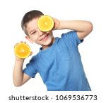 Cute Little Boy With Citrus...