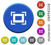 full screen round color beveled ... | Shutterstock .eps vector #1069542218