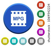 mpg movie format round color... | Shutterstock .eps vector #1069542224