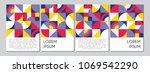 retro geometric covers design.  ... | Shutterstock .eps vector #1069542290