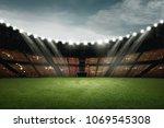 football stadium design with... | Shutterstock . vector #1069545308