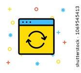 browser refresh internet  | Shutterstock .eps vector #1069545413