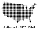 usa map halftone vector icon.... | Shutterstock .eps vector #1069546373
