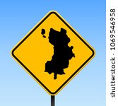 ko tao map road sign. square... | Shutterstock .eps vector #1069546958
