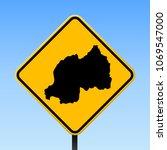 rwanda map road sign. square... | Shutterstock .eps vector #1069547000